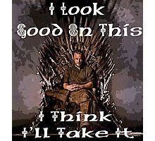 King Ragnar Iron Throne Photographic Print