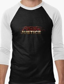 Raging Justice Logo Men's Baseball ¾ T-Shirt