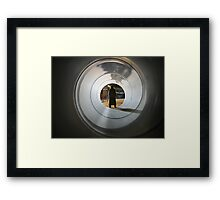 Even Time Travellers Wait For Buses Framed Print