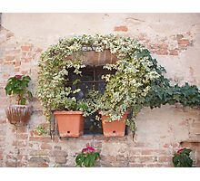 A Tuscan Window Photographic Print