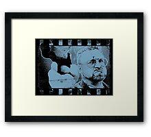 Lebowski Blue Framed Print