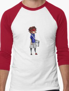 Chibi Nate (Pokemon Black 2 and White 2) Men's Baseball ¾ T-Shirt