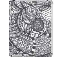 Bold Black and White Jentangle Shell iPad Case/Skin