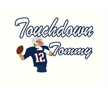 Touchdown Tommy Art Print
