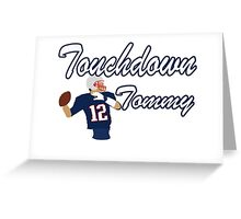 Touchdown Tommy Greeting Card