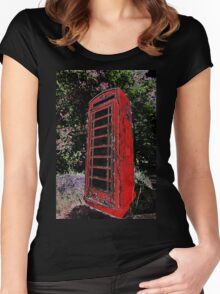 Red Phone Box Women's Fitted Scoop T-Shirt