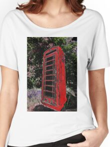 Red Phone Box Women's Relaxed Fit T-Shirt