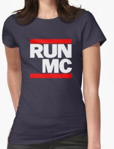 RUN MC - Hip Hop Mashup Womens Fitted T-Shirt