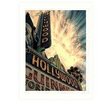 hollywood,sign Art Print