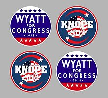 knope-wyatt campaign badges by sansastoneheart