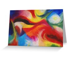 """Fiesta Nocturna"" original abstract landscape by Laura Tozer Greeting Card"