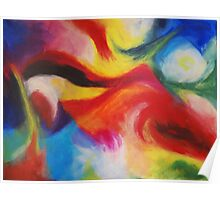 """Fiesta Nocturna"" original abstract landscape by Laura Tozer Poster"