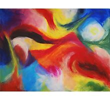 """""""Fiesta Nocturna"""" original abstract landscape by Laura Tozer Photographic Print"""