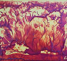 """Forest Fire"" original abstract artwork by Laura Tozer by Laura Tozer"