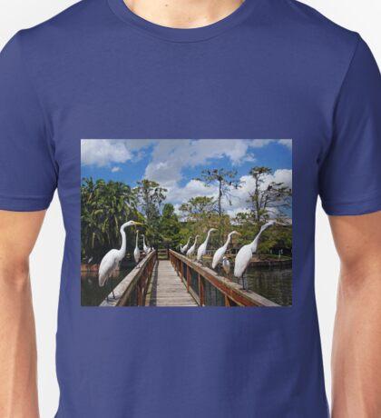 Egret Boardwalk Unisex T-Shirt