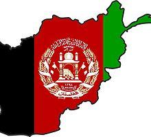 Afghanistan Flag Map by abbeyz71