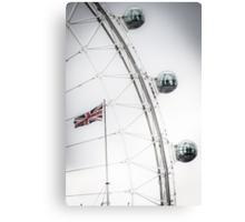 London Eye and Union Jack Canvas Print