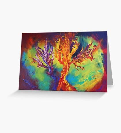 """""""Coral Forest"""" original artwork by Laura Tozer Greeting Card"""
