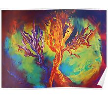 """Coral Forest"" original artwork by Laura Tozer Poster"