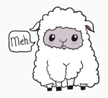 Meh. Sheep of Indifference Kids Tee