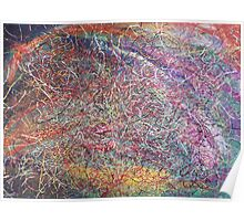 """Entanglement No.2"" original abstract artwork by Laura Tozer Poster"
