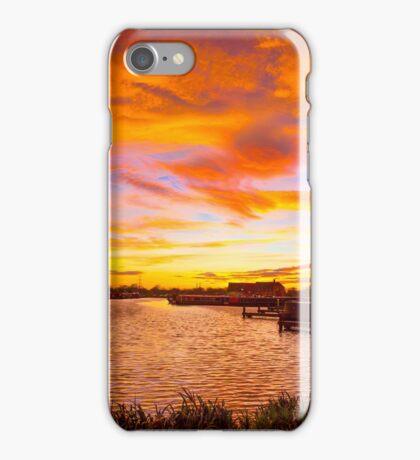 Barton Marina December Sunset. iPhone Case/Skin