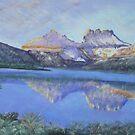 Cradle Mountain above Dove Lake...Tasmania by Les Boucher