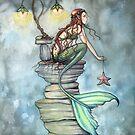 Mermaid's Perch Fantasy Mermaid Art by Molly Harrison by Molly  Harrison