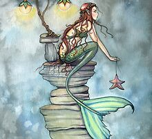 Mermaid's Perch Fantasy Mermaid Art by Molly Harrison by Molly  Harrison
