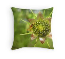 Dew on a Blossom Throw Pillow