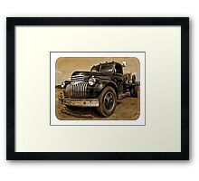 brown chevrolet Framed Print