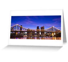 Blue Sky Bridge Greeting Card