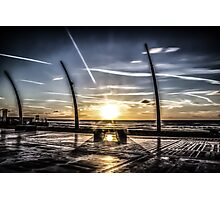 Sunset Blackpool Art Photographic Print