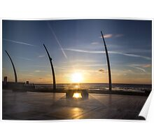 Blackpool Sunset Poster