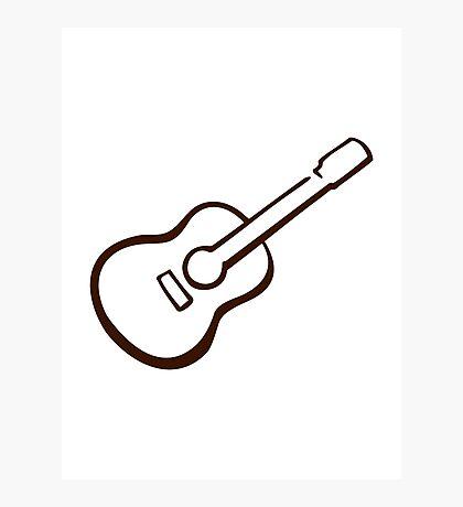Classic Guitar Photographic Print
