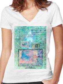 Electronica Women's Fitted V-Neck T-Shirt