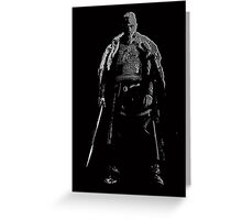 Black Ragnar Greeting Card