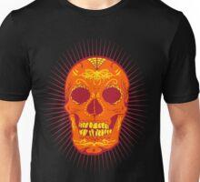 Calavera Skull - Orange Unisex T-Shirt