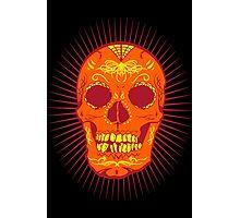Calavera Skull - Orange Photographic Print