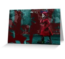 Girl in the Bloodstained Coat Greeting Card