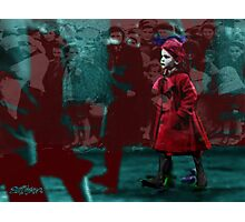 Girl in the Bloodstained Coat Photographic Print