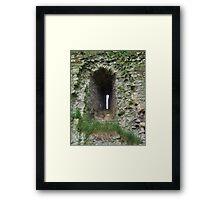 Castle Window - Helmsley Castle Framed Print
