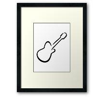 Electric guitar Framed Print
