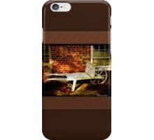 An Old Wheelbarrow, An Ancient House iPhone Case/Skin