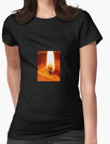 Candle Flame Womens Fitted T-Shirt