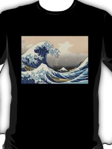 'The Great Wave Off Kanagawa' by Katsushika Hokusai (Reproduction) T-Shirt