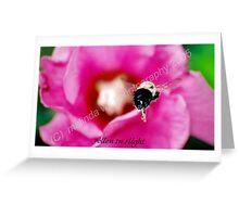Pollen in flight... Greeting Card