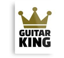 Guitar King crown Metal Print