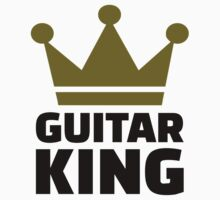 Guitar King crown Kids Tee