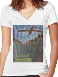 Brother Stanley's Eagles Women's Fitted V-Neck T-Shirt